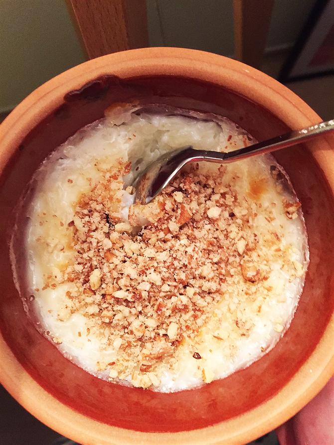 Fırında Hamsiköy Sütlacı