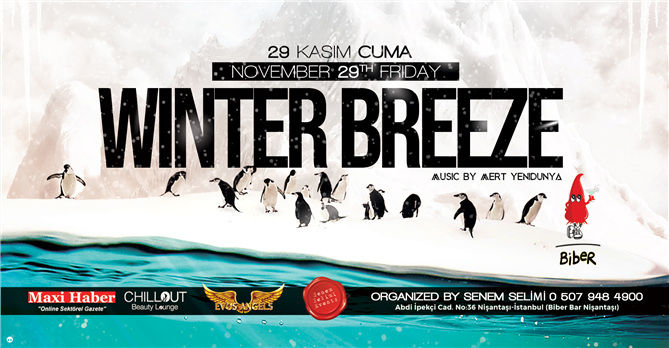 29 Kasım'da Eğlence Winter Breeze Party'de