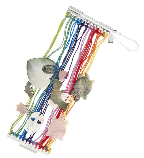 Aurélie Bidermann renkli kordon bileklikleri