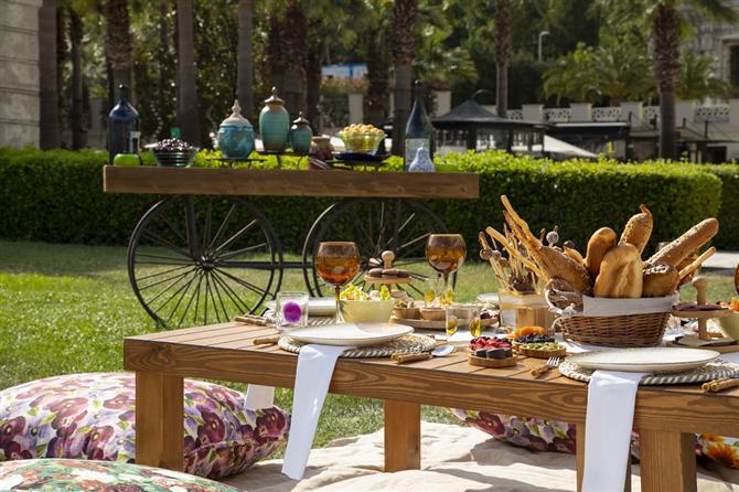 Çırağan Sarayı Bahçelerinde Piknik ve Romantik Akşam Yemeği Deneyimi