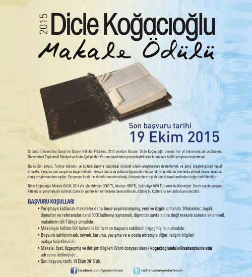 Dicle Koğacıoğlu Makale Ödülü