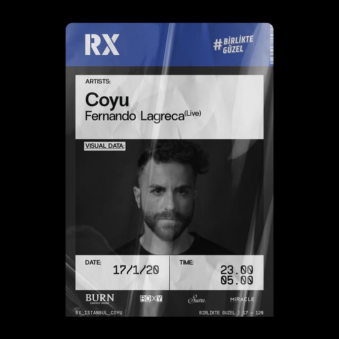 """DJ ve Prodüktör Coyu """"Birlikte Güzel"""" ile 17 Ocak Cuma Gecesi  RX Istanbul'da"""