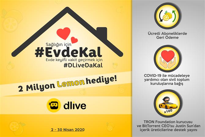 DLive ile #EvdeKal'an Herkes Kazanıyor
