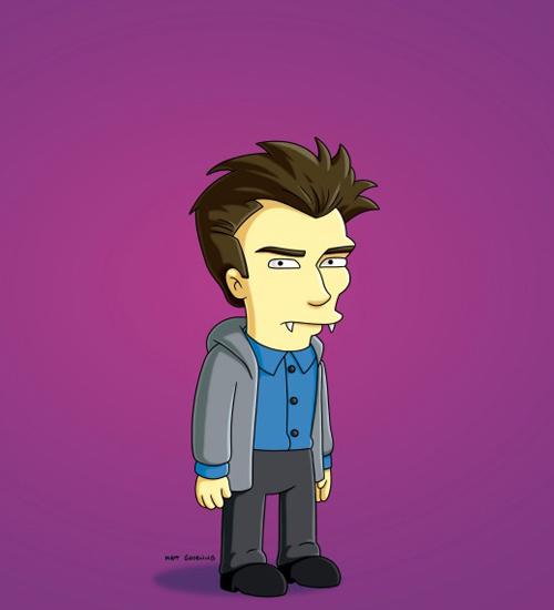 Edward Cullen Simpsons ailesine katıldı