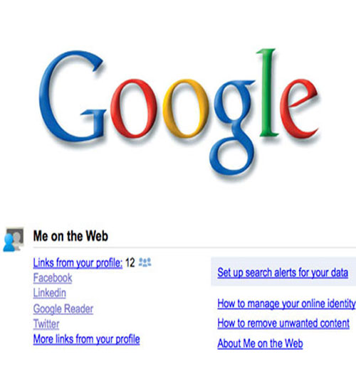 Google Me on the Web - Webdeki Ben