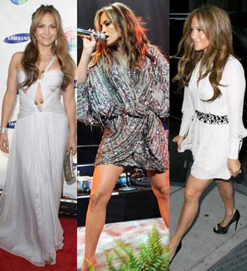 Jennifer Lopez bir gecede 3 elbise giydi