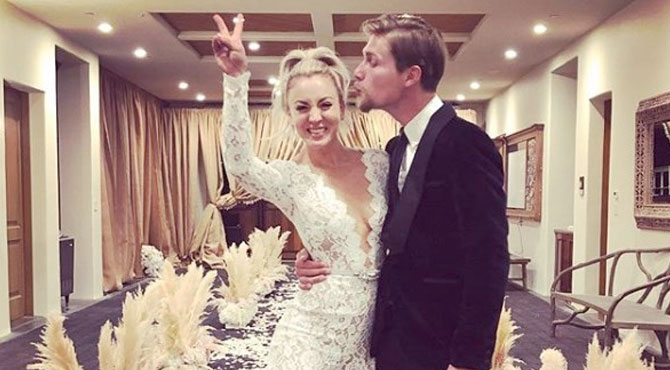 Kaley Cuoco ve Karl Cook Evlendi
