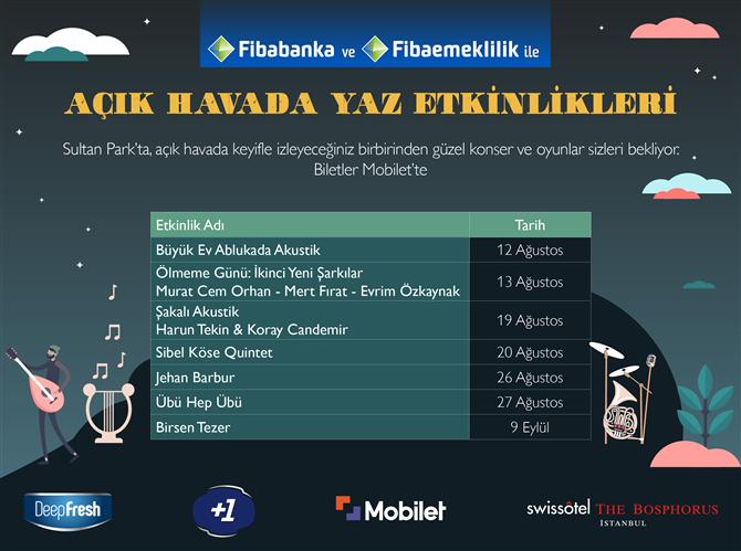 Swissôtel the Bosphorus, İstanbul'da  Açık Havada Yaz Etkinlikleri
