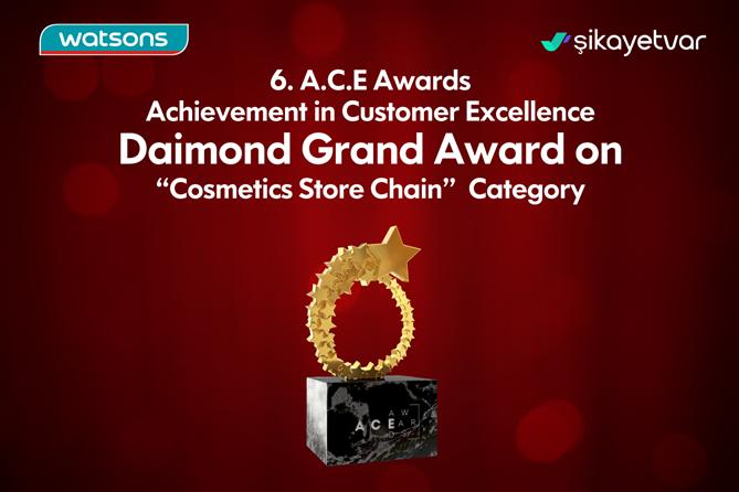 Watsons, Diamond Birincilik Ödülünün Sahibi Oldu