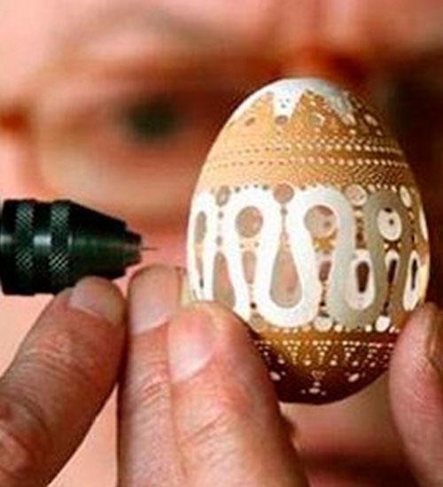 Yumurta kabuğundan sanat eseri