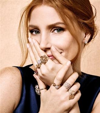 Jessica Chastain Piaget`nin Kampanya Yüzü