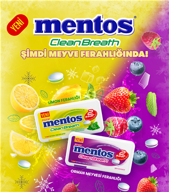 Mentos Clean Breath'ten İki Yeni Ferahlatıcı Tat