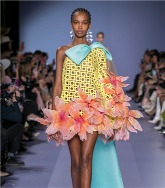 Renkli Georges Hobeika Haute Couture İlkbahar/Yaz 2020 Koleksiyonu