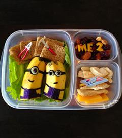 Yaratıcı babadan eğlenceli beslenme çantaları