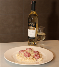 Çilek marineli karides ile enginar ve limoncello risotto
