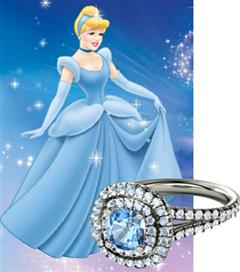 Disney`in ünlü prensesleri için nişan yüzükleri