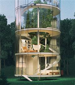 Doğa ile İç İçe Geçmiş Bir Ev