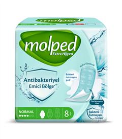 Molped'den Antibakteriyel Koruyucu İle İşlenmiş Ped