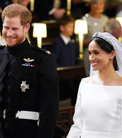 Prens Harry ve Meghan Markle Evlendi
