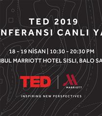 2019 TED Konferansı Sadece İstanbul Marriott Hotel Şişli'de Canlı Yayınlanacak