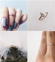 35 Minimal Nişan Yüzüğü