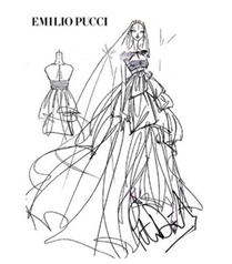 Anja Rubik`in gelinliği Emilio Pucci imzalı
