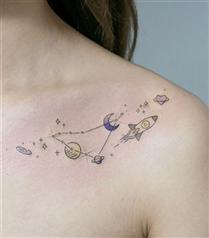 Astroloji Sevenler İçin İlham Olacak 10 Muhteşem Dövme Fikri
