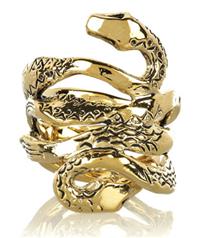 Aurélie Bidermann altın yılanlı yüzük