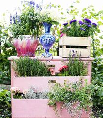 Bahçenizi eski eşyalarınızla süsleyin