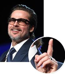 Brad Pitt ojeli tırnaklarıyla görüntülendi