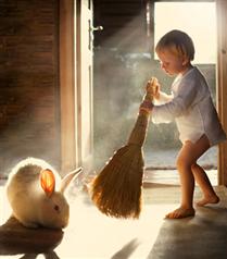 Çocuklar ve hayvanların büyüleyici bağlılıkları
