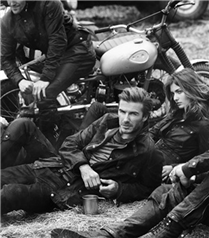 David Beckham Belstaff reklamı