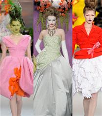Gizia Dior mankenlerini podyuma çıkarıyor
