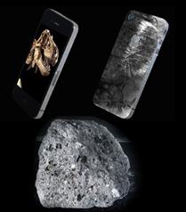 Gök taşı ve dinazor dişi kaplı iPhone 4