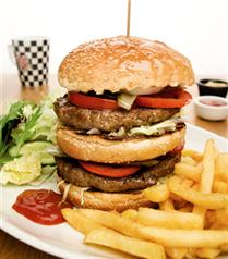 Happy Moon's Restaurant'da hamburger keyfi