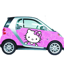 Hello Kitty şimdi de arabalarımızı süslüyor