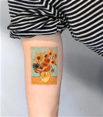 İlhamını Resim Sanatından Alan Etkileyici Dövmeler