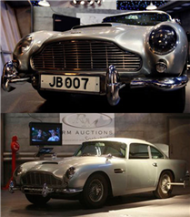 James Bond'un arabası satıldı
