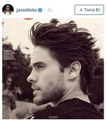 Jared Leto`nun çılgın saç stilleri