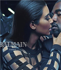 Kanye West ve Kim Kardashian Balmain`in yüzü