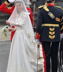 Kate Middleton Westminster Kilisesi`ne girerken