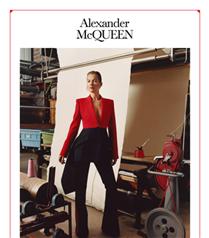 Kate Moss Alexander McQueen Sonbahar/Kış 2019 Kampanyasında