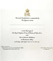 Kraliyet Düğün Davetiyesi