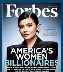 Kylie Jenner Forbes'a Kapak Oldu
