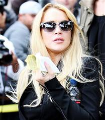Lindsay Lohan serbest