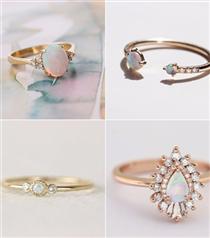 Opal Taşından 25 Nişan Yüzüğü