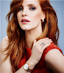 Piaget Jessica Chastain ile parlıyor