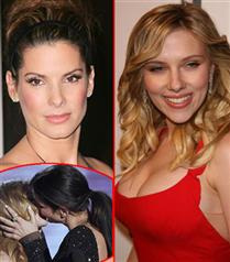 Sandra Bullock ve Scarlett Johansson öpüştü
