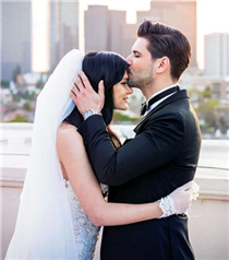 Tolgahan Sayışman ve Almeda Abazi Los Angeles'ta evlendi