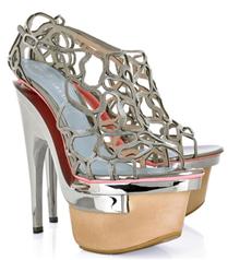 Versace Intrecciata metal platform topukları